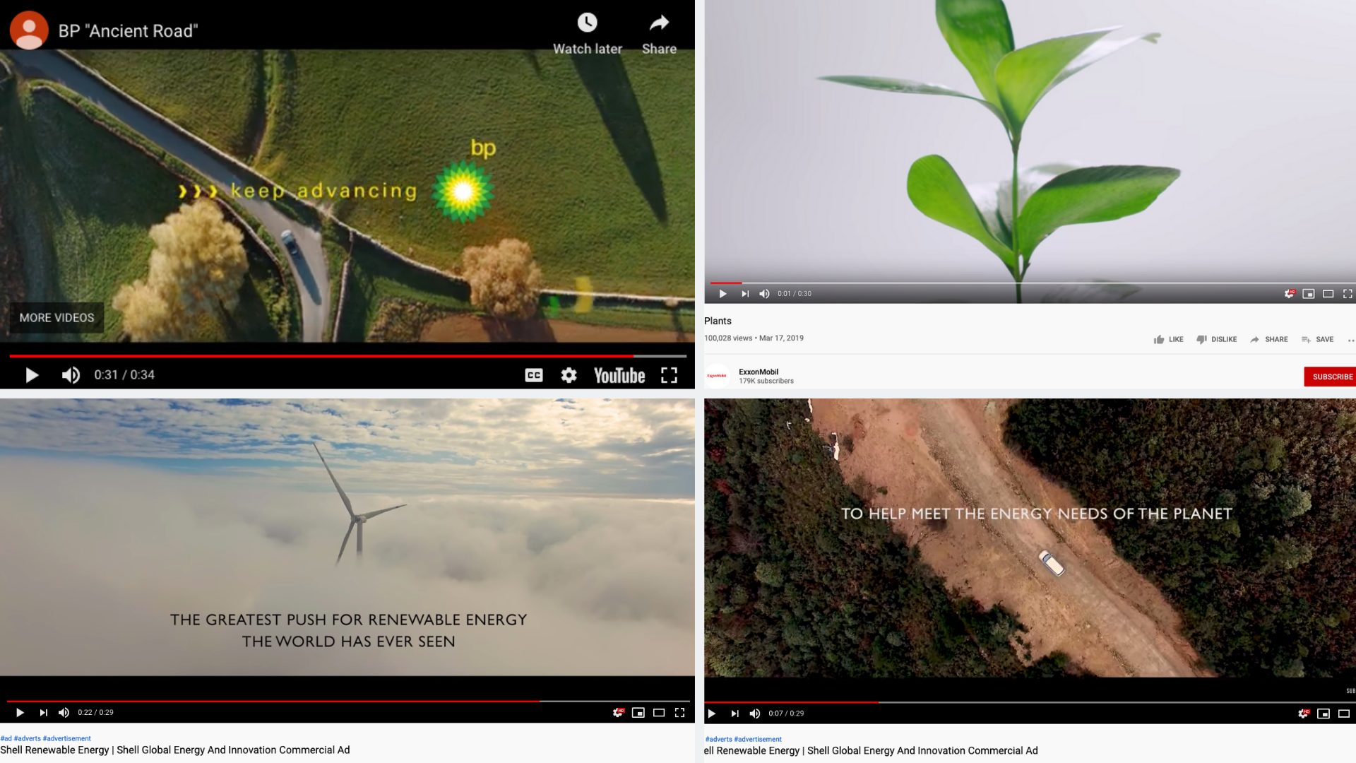 Big Oil green advertising examples