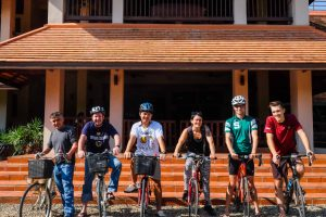 ERI's Chiang Mai staff bicycle to work at the Mitharsuu Center for Leadership and Justice.