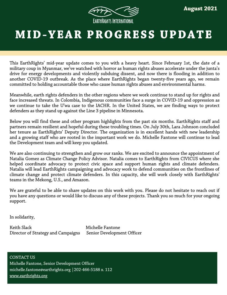 thumbnail of 2021 Mid-Year Progress Update