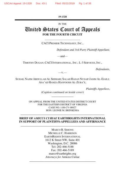 thumbnail of Al Shimari – ERI Amicus – 2019 – filed copy