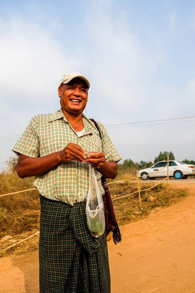 One of the 33 farmers near the Thilawa Special Economic Zone in Myanmar.