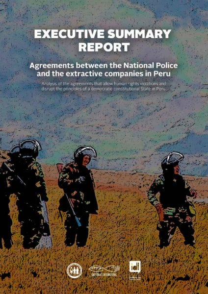 thumbnail of Executive Summary – Agreements between Peru's National Police and extractive companies