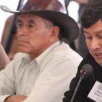 Adolfo Chávez (right) testifies to the IACHR