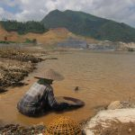 Mining tailings on the Mekong River