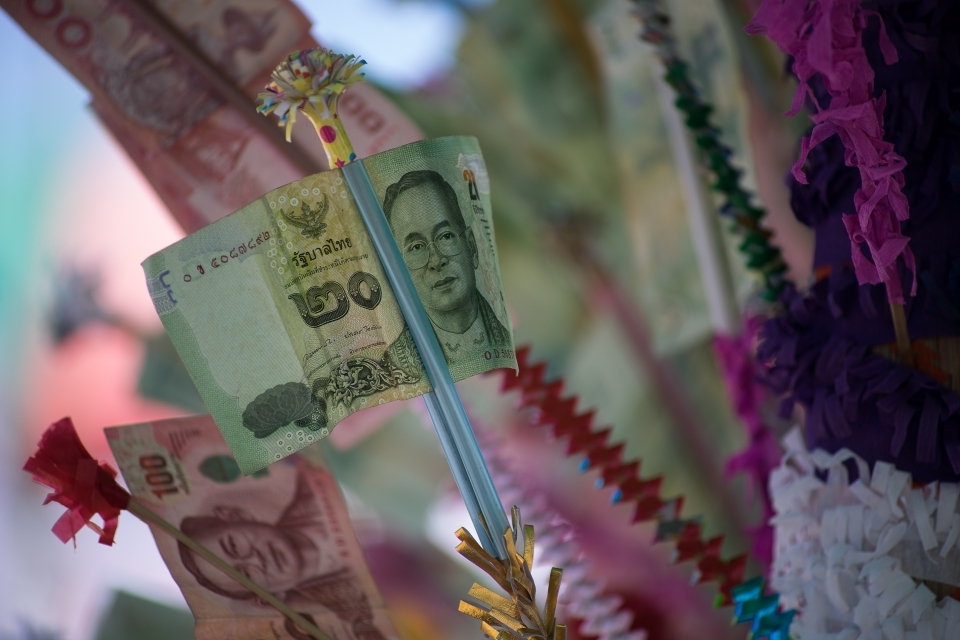 Every organisation made one in order to represent their contributions. A total of 50.000 baht dollars was collected during the campaign, which is almost 1500 U.S. dollars.