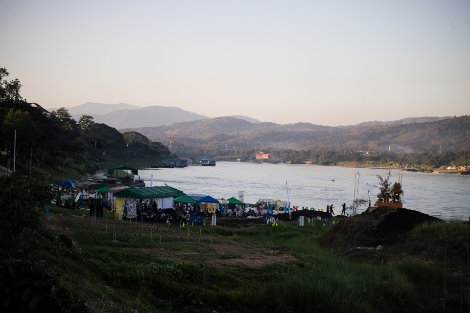 General view from the event on the riverside of the Mekong.