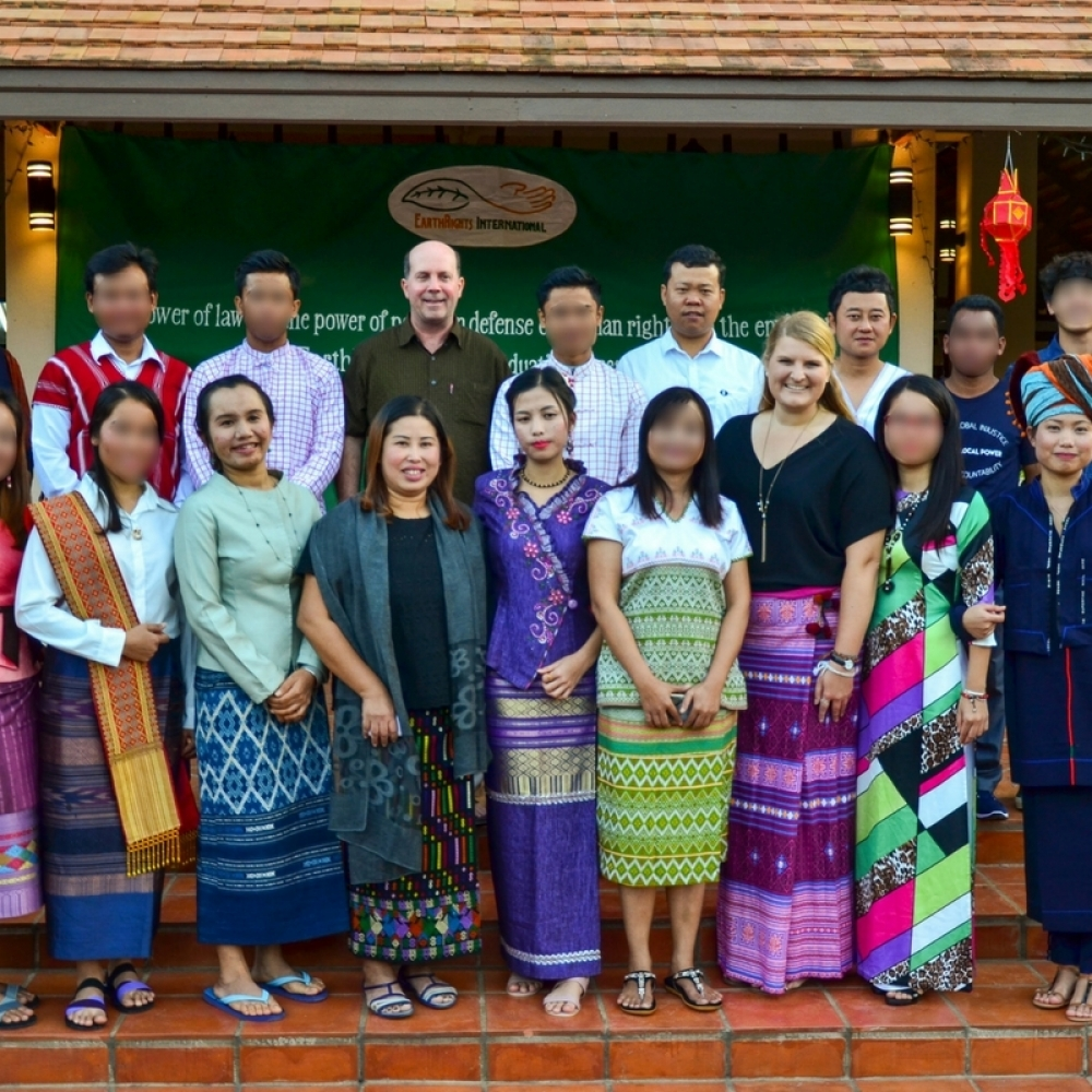 EarthRights School 2017 graduates with ERI staff during their graduation ceremony at the Mitharsuu Center for Leadership and Justice.