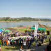 The gathering of the solidarity Campaign of the Chiang Khong Community and Network to Preserve the Mekong River.