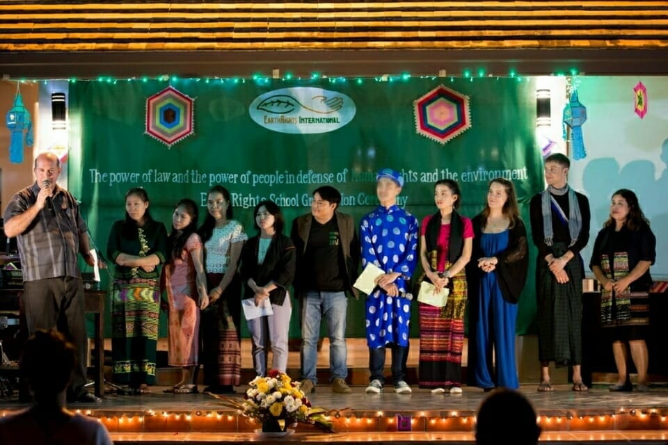 Without the EarthRights School training team, and their dedication and commitment, the school could not run smoothly.