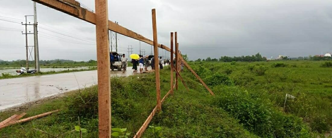 Massive Police Force Traps Families Near Development Project in Myanmar