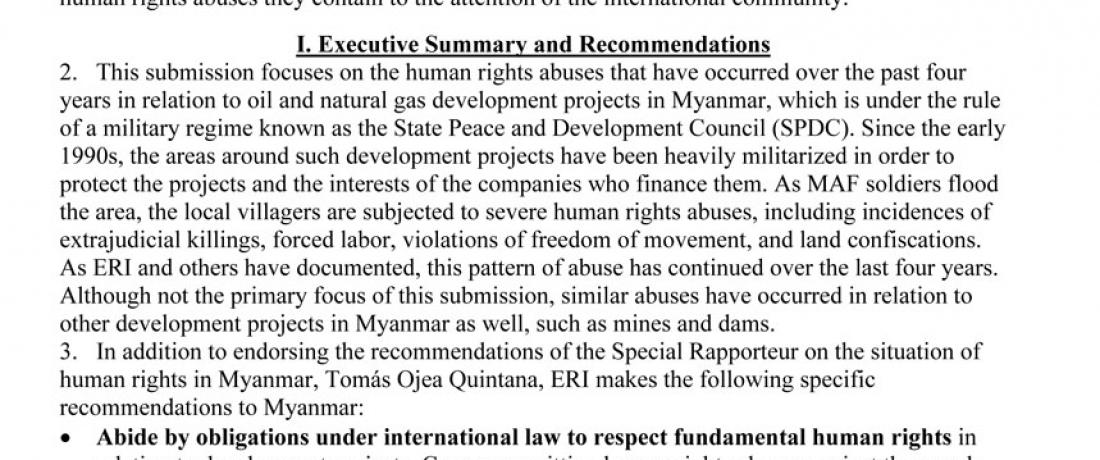 Universal Periodic Review – Myanmar (Burma)