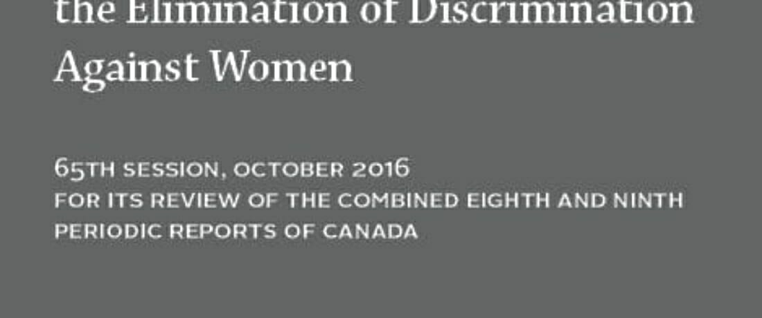 Report to the UN Committee on the Elimination of Discrimination Against Women