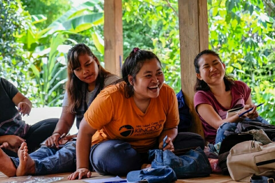 EarthRights School students shared their own advocacy experiences with the activists in Ban Nong Tao. Som, pictured here, also comes from an Karen community and has experienced similar challenges, including advocating for the rights of rural indigenous communities with subsistence lifestyles.