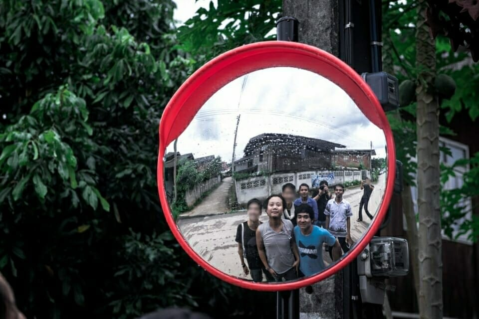 EarthRights School students pose in the center of Ban Haeng village.