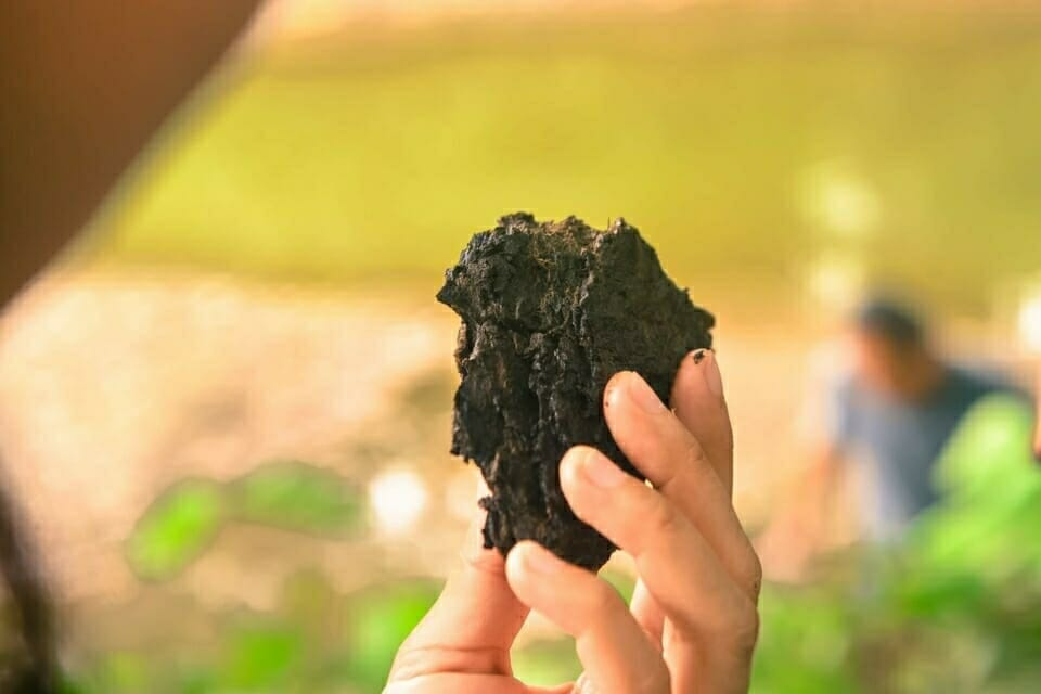 In Ban Haeng, Thailand, EarthRights School students had the chance to handle and see lignite coal up close. Lignite is among the dirtiest fossil fuels in the world.