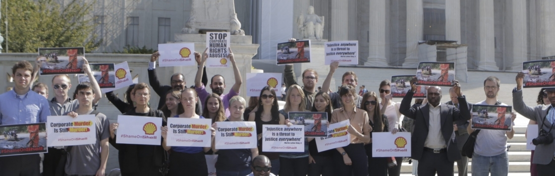 Kiobel v. Shell, Viewed from the Supreme Court Steps