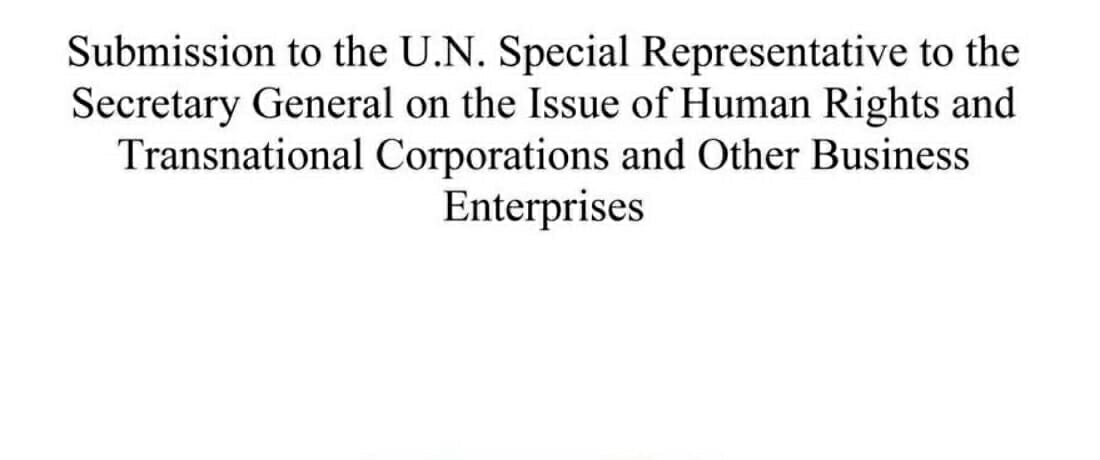Mechanisms for Improving Access to Justice for Victims of Human Rights Abuses by Corporations (UNSRSG Submission)