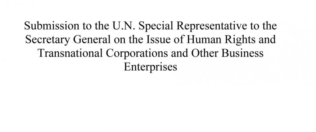 EarthRights International Examines EO 13303