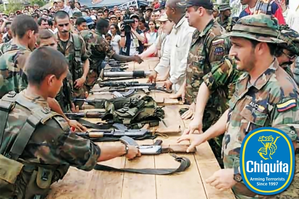 Litigation in US Courts: Doe v. Chiquita.  Chiquita Brands International, Inc., the multi-national produce company, has been accused of funding and arming known terrorist organizations in Colombia, in order to maintain control of Colombia's banana growing regions.  In 2007, after the US Justice Department brought criminal charges, Chiquita pled guilty and agreed to pay a $25m fine to the US government, which was at the time the largest U.S. criminal penalty ever imposed under federal global terrorism sanction regulations.   In civil courts, however, survivors of paramilitary violence and family members of victims are still awaiting justice. We filed a federal class action suit against Chiquita in 2007, on behalf of the Colombian families. This case is ongoing.
