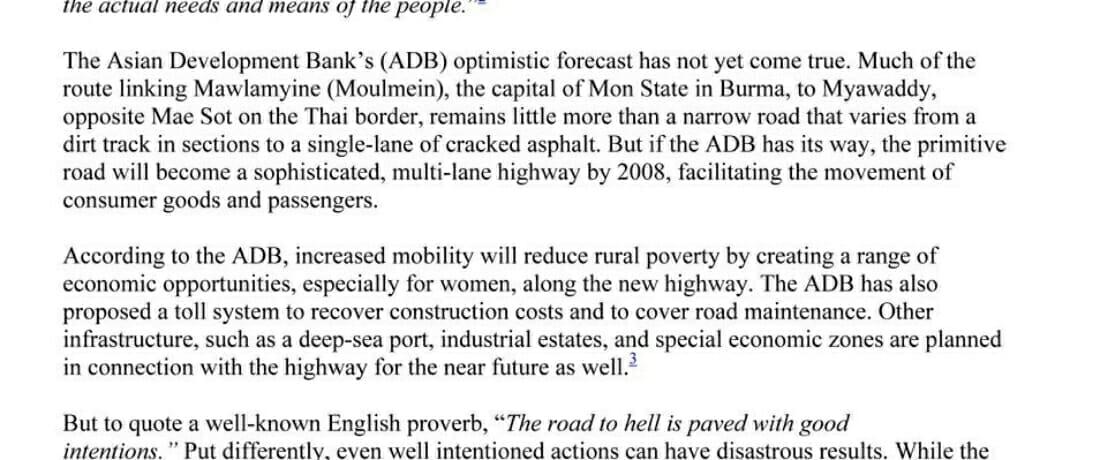 The East-West Economic Corridor