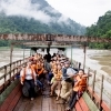 In the past, one could only reach Sob Moei Village by taking a boat along Salween River.  Nowadays villagers and visitors can arrive by car, but during the rainy season, it is more convenient to reach the village by boat.