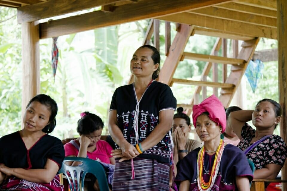 Sob Moei village has a strong women's group. They participate together with men and youth groups in campaigns and meetings. The women's group has a very clear vision of what they hope to see in the future.