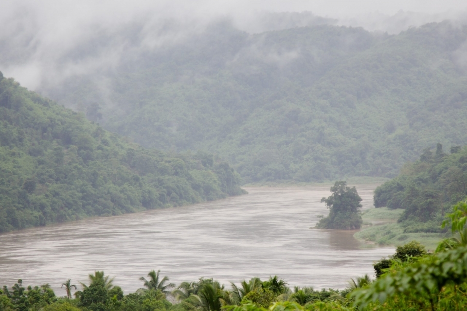 At Sob Moei village the tributary river called Moei meets the Salween River.
