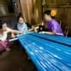The student learned how Karen women weave their own traditional clothes.
