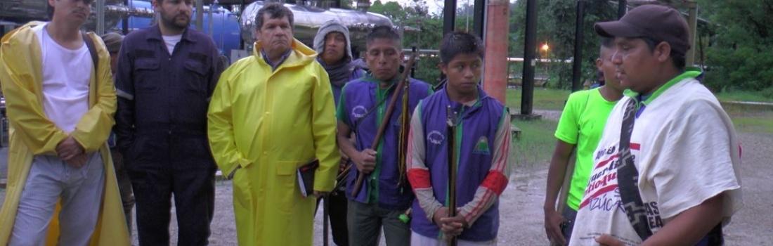 La Nación U'wa tomó una planta de gas en su tierra ancestral para protestar contra el gobierno Colombiano