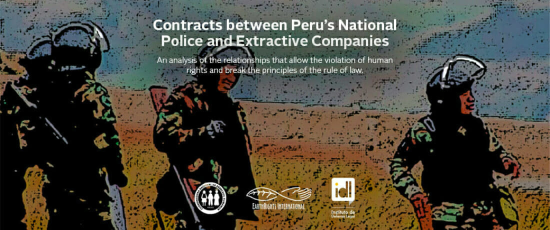 Report Reveals Contracts Between Peru's National Police and Extractive Companies