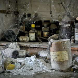 Abandoned chemicals at the Bhopal plant
