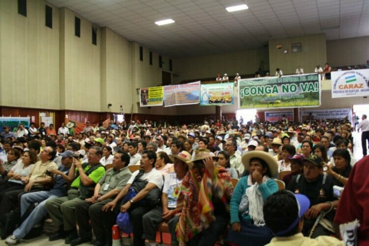 Public forum at the Grand March in Lima